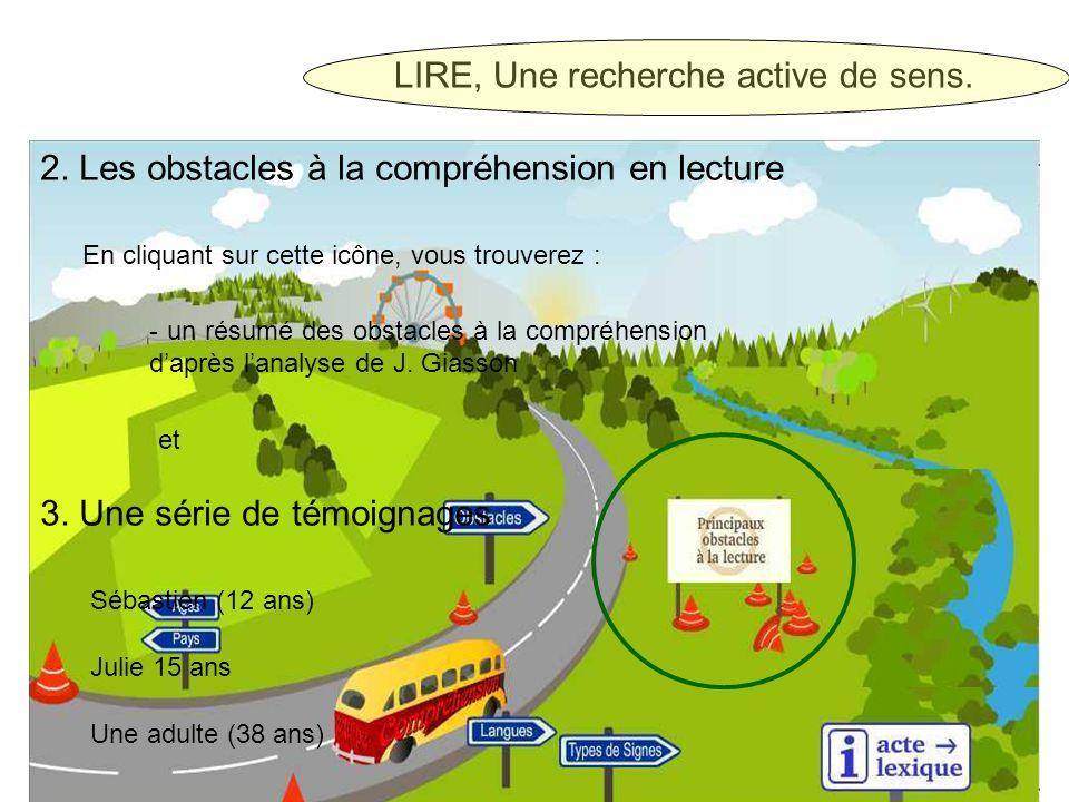 LIRE, Une recherche active de sens. 2.
