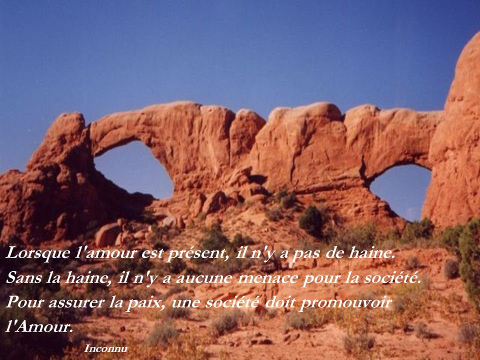La terre est un pont pour passer l eau : elle ne sert qu à soutenir nos pieds...