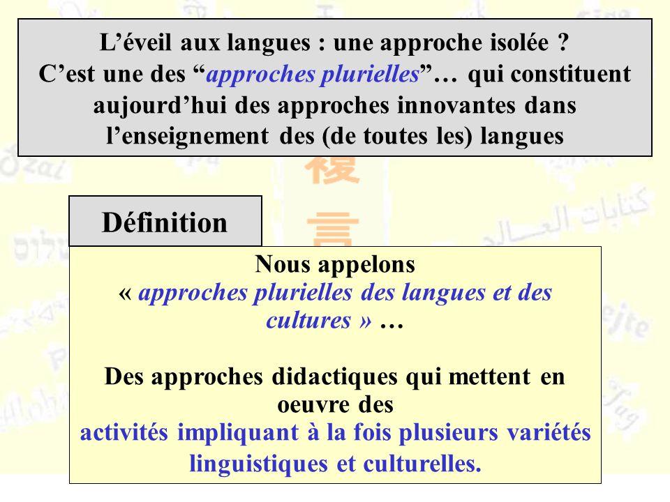 Léveil aux langues : une approche isolée .