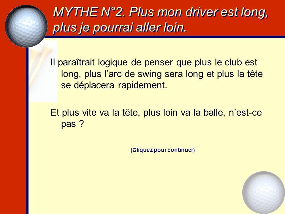 MYTHE N°12.Les clubs sur mesure sont réservés aux vraiment bons golfeurs.