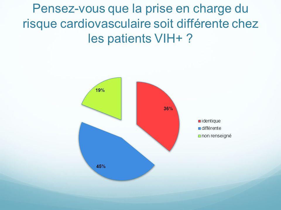Pensez-vous que la prise en charge du risque cardiovasculaire soit différente chez les patients VIH+ ?