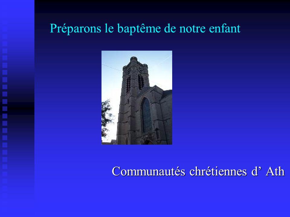 Préparons le baptême de notre enfant Communautés chrétiennes d Ath