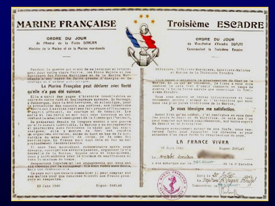 Ceux qui se trouvent-là ignorent totalement que Churchill et le général de Gaulle réfugié à Londres, sont totalement daccord pour sopposer à larmistice séparé quavaient choisi Pétain et Darlan.