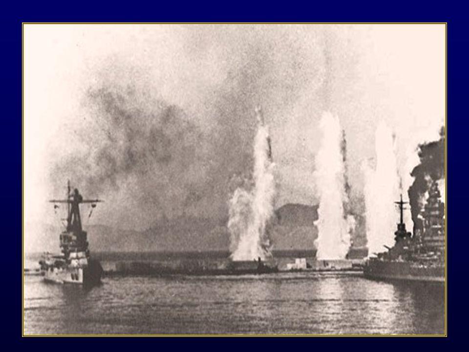 Cest ainsi que selon les ordres de Londres un déluge de fer et de feu sabat sur la rade.