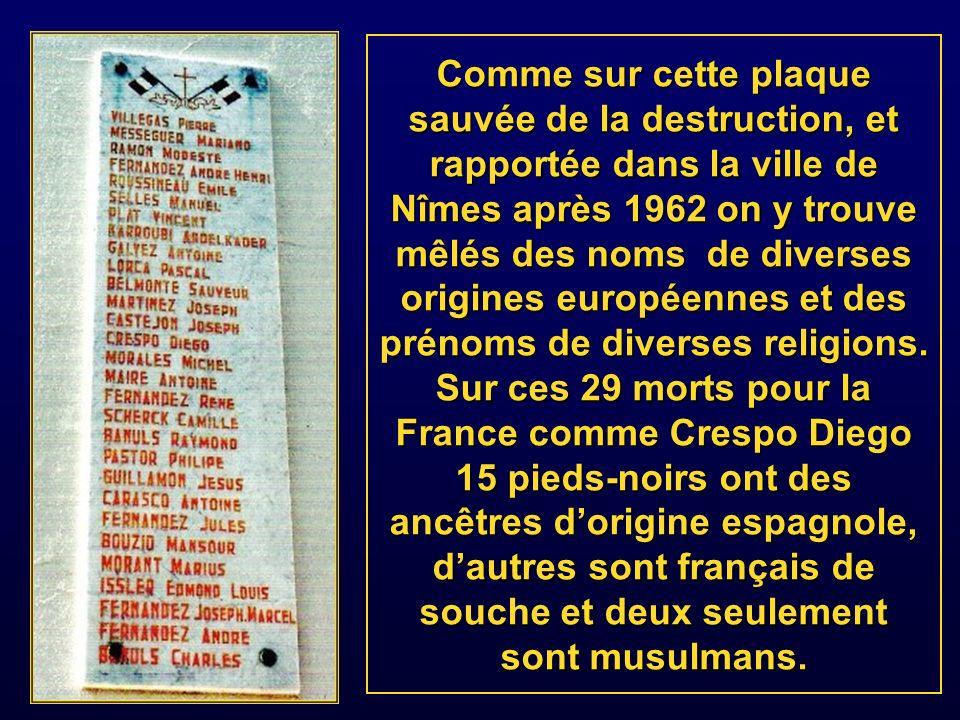 Comme dans la petite bourgade de Port-aux- poules on trouvait la liste des morts pour la France gravée dans le marbre des monuments aux morts de plus de 105 agglomérations françaises.