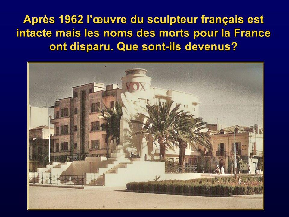 Le même monument vu de face et d en haut surélevé dans les années cinquante.