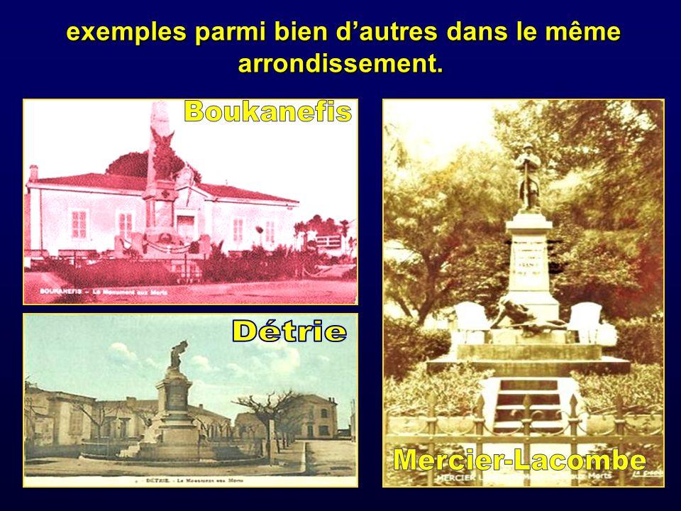 Après 1962 lœuvre du sculpteur français est intacte mais les noms des morts pour la France ont disparu.