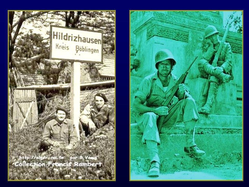 1939-1945 campagne de Tunisie, campagne dItalie, débarquement en Provence le 15 août 1944, libération de la France de Toulon, Marseille jusquaux Vosges et lAlsace puis invasion de lAllemagne jusquà sa capitulation.