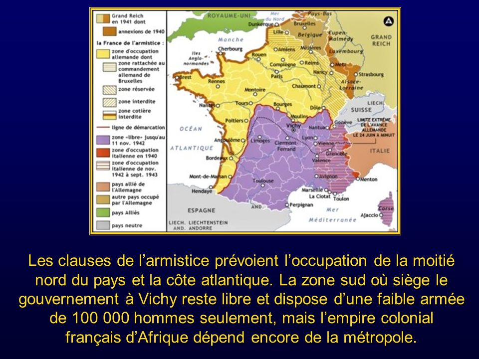 Mais après la chute du gouvernement de Paul Raynaud lassemblée nationale avait émis un vote donnant les pleins pouvoirs pour le remplacer au maréchal Pétain considéré comme un chef héroïque de la guerre de 1914-1918.