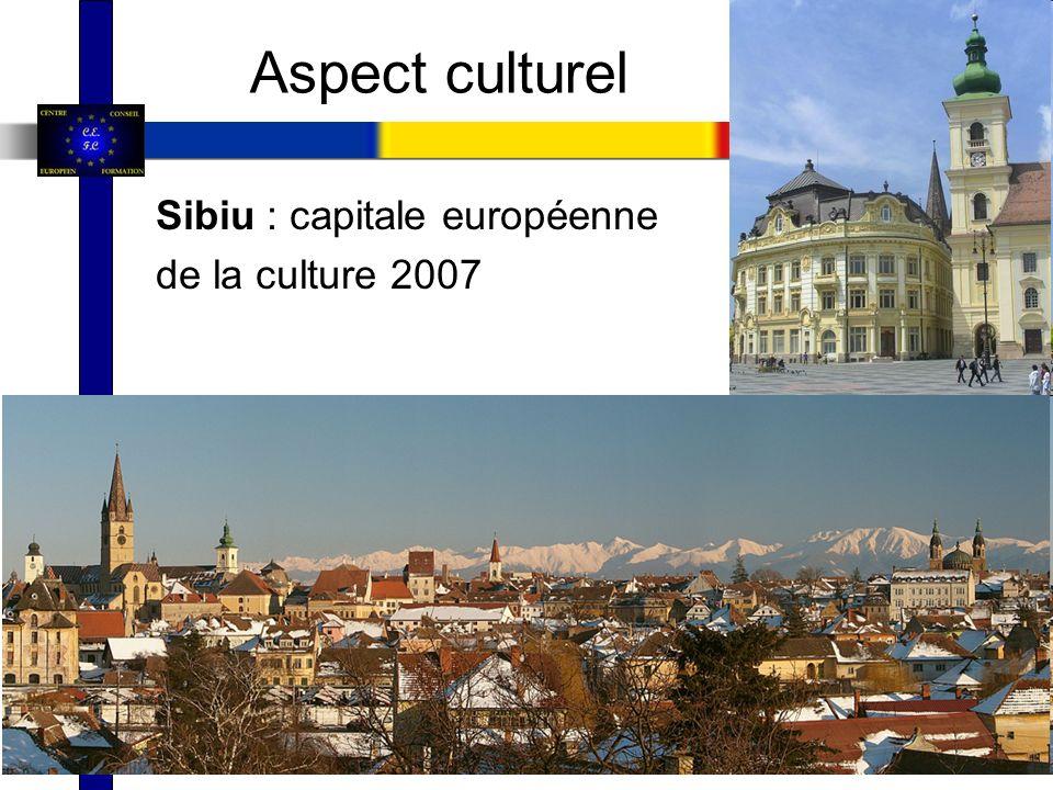 Sibiu : capitale européenne de la culture 2007 Aspect culturel