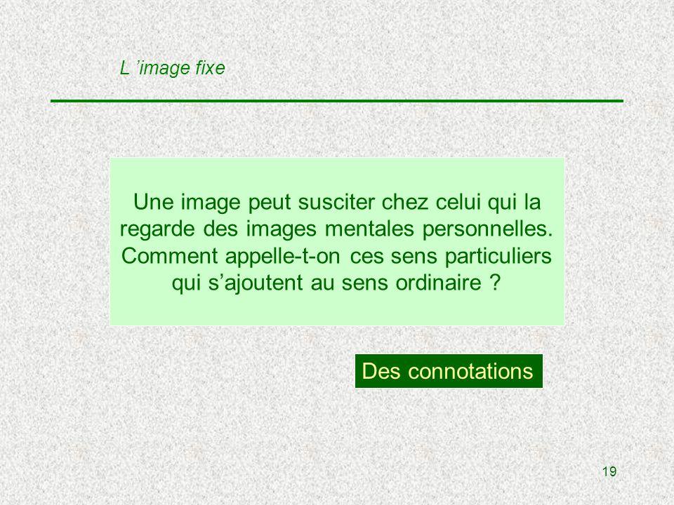 19 Une image peut susciter chez celui qui la regarde des images mentales personnelles.