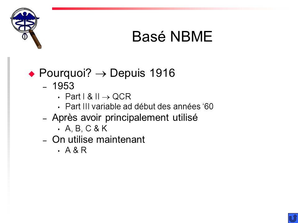 Basé NBME u Pourquoi.