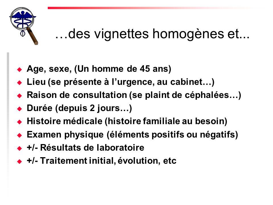 …des vignettes homogènes et...