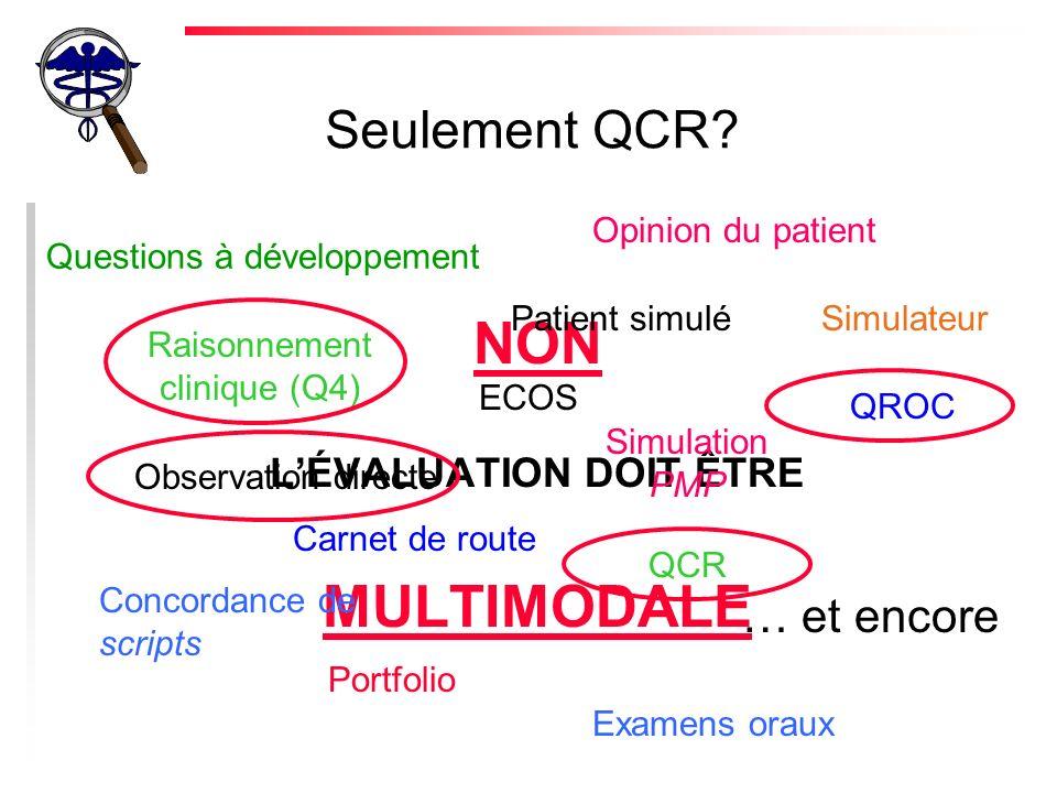 Seulement QCR.