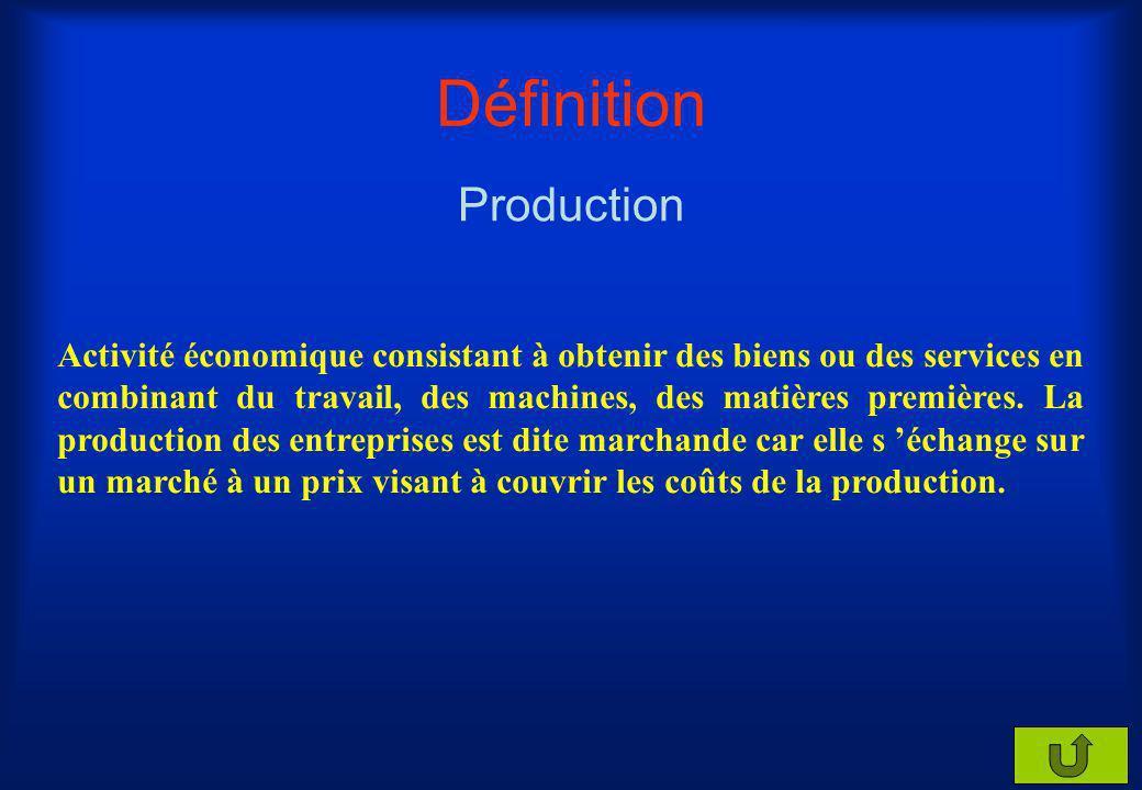 Définition Consommation intermédiaire Utilisation durant moins dun an dun bien ou dun service conduisant à sa destruction et visant à satisfaire les b