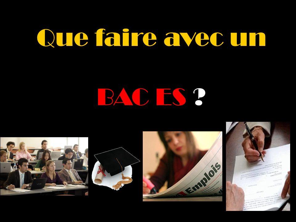 98% des bacheliers ES choisissent de poursuivre des études supérieures.