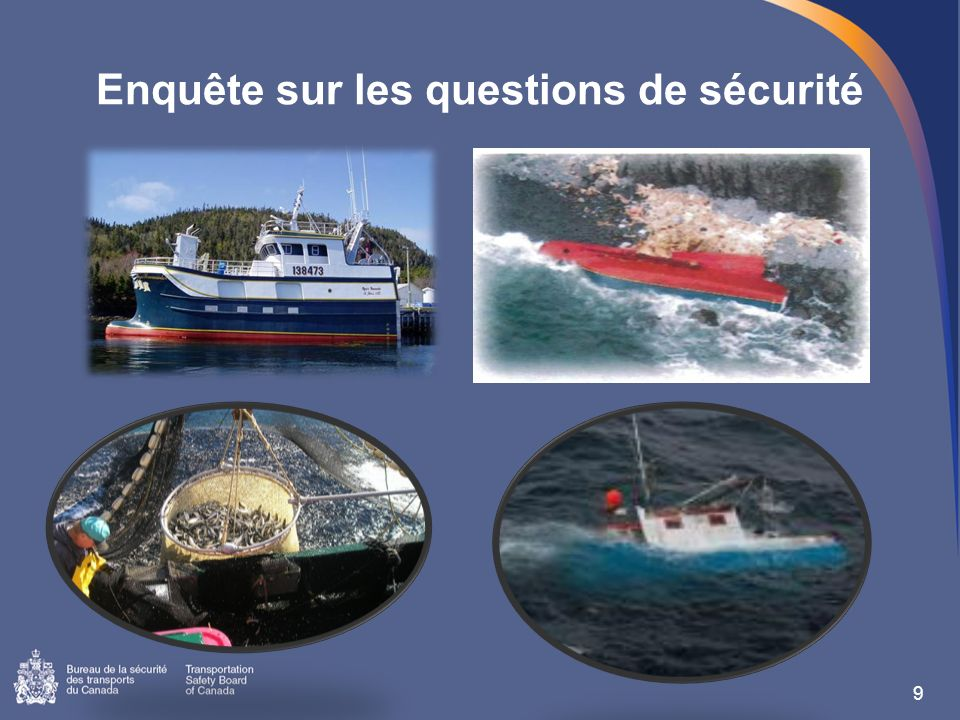 Enquête sur les questions de sécurité 9