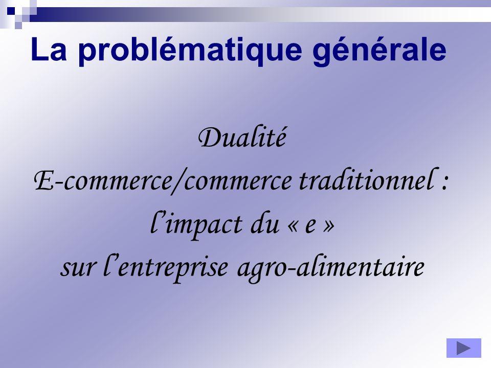 La problématique générale Dualité E-commerce/commerce traditionnel : limpact du « e » sur lentreprise agro-alimentaire