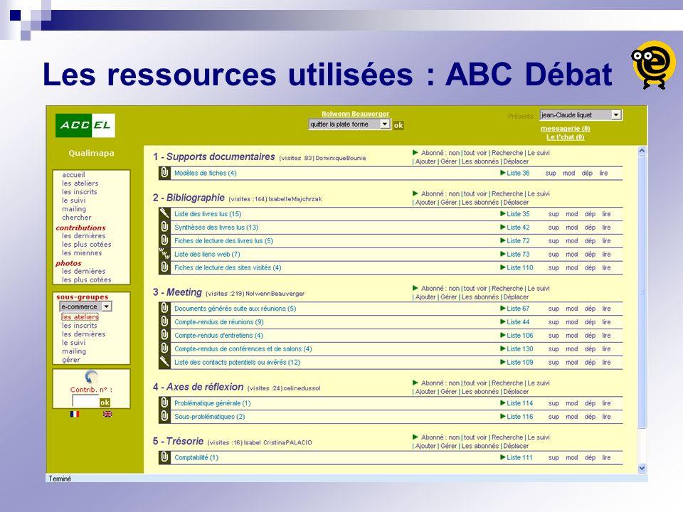 Les ressources utilisées : ABC Débat