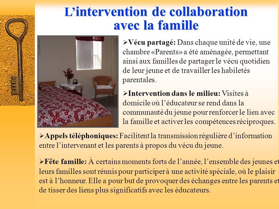 Une intervention decollaboration avec la famille et les partenaires Une intervention de collaboration avec la famille et les partenaires Dès le début