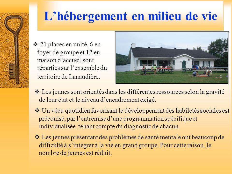 Les services offerts Lhébergement en milieu de vie Le Répit familial Le Centre dintervention intensive pour le maintien en milieu (CIIMM) Lhébergement