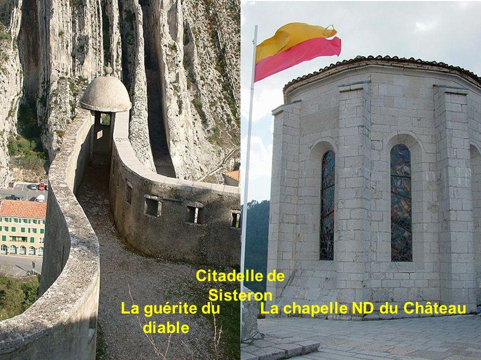 Citadelle de Sisteron - La guérite du diable vue du pont