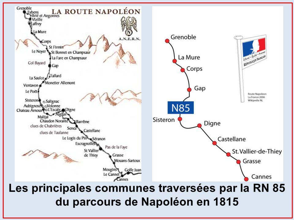 Lorsque Napoléon emprunta cette route, elle était dans un état très inégal selon les secteurs. Entre Grasse et Digne, elle nétait pas encore construit