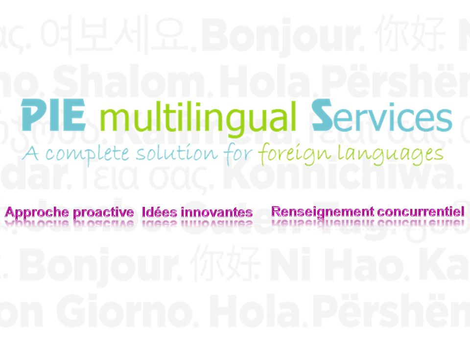 PIE MULTILINGUAL SERVICES22 Merci