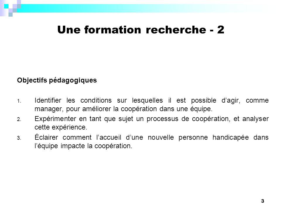 3 Objectifs pédagogiques 1. Identifier les conditions sur lesquelles il est possible dagir, comme manager, pour améliorer la coopération dans une équi