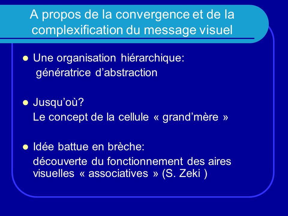 A propos de la convergence et de la complexification du message visuel Une organisation hiérarchique: génératrice dabstraction Jusquoù? Le concept de