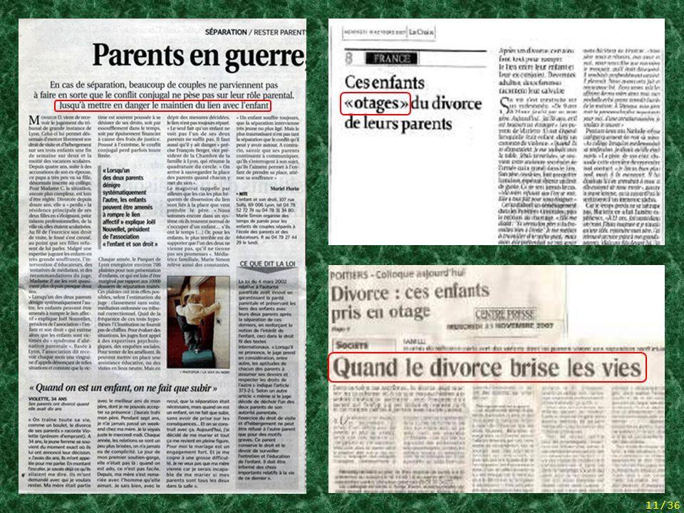 10/36 Hommage à un de ces pères qui se sont finalement suicidés, las de sêtre tant battus en vain. 5 articles de presse + hommage