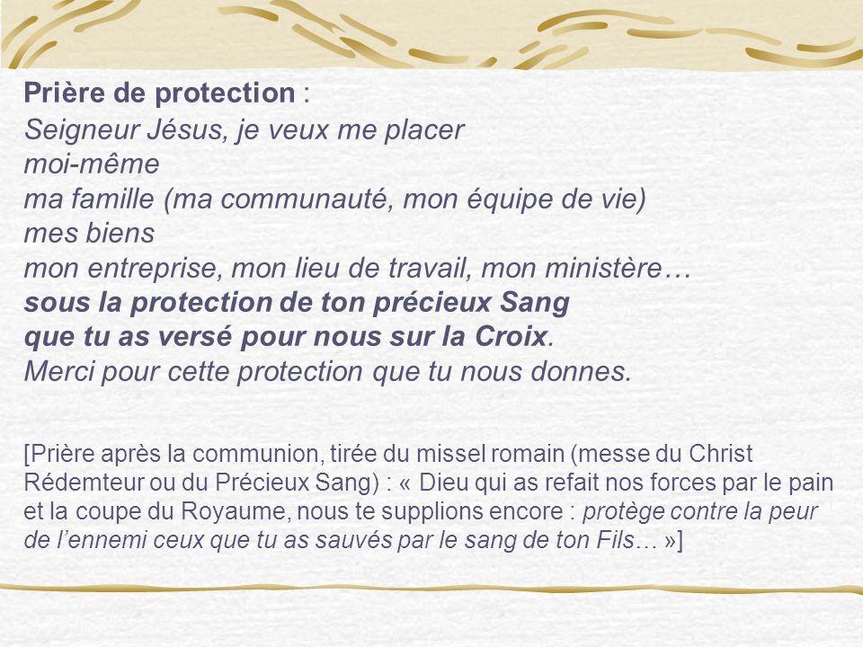 Une simple prière dautorité, accomplie dans la foi en Jésus, qui a vaincu le mal.