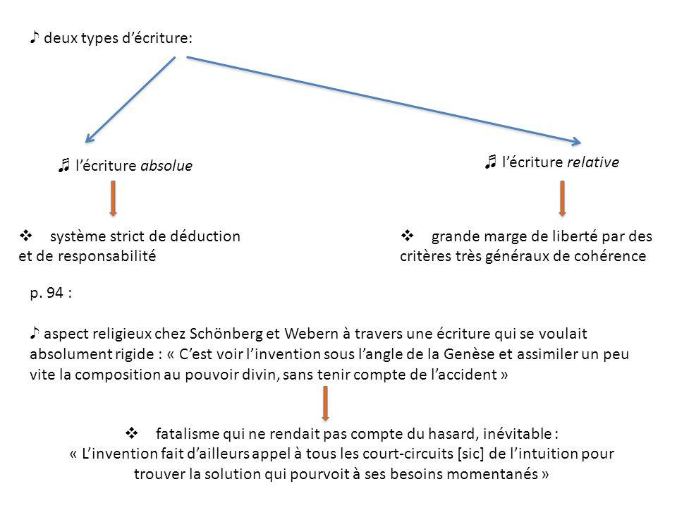 deux types décriture: système strict de déduction et de responsabilité grande marge de liberté par des critères très généraux de cohérence lécriture absolue lécriture relative p.
