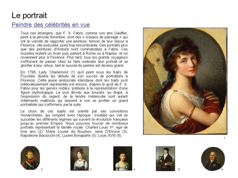 Peindre des célébrités en vue Tous ces étrangers, que F. X. Fabre, comme son ami Gauffier, peint à la période florentine, sont des « oiseaux de passag