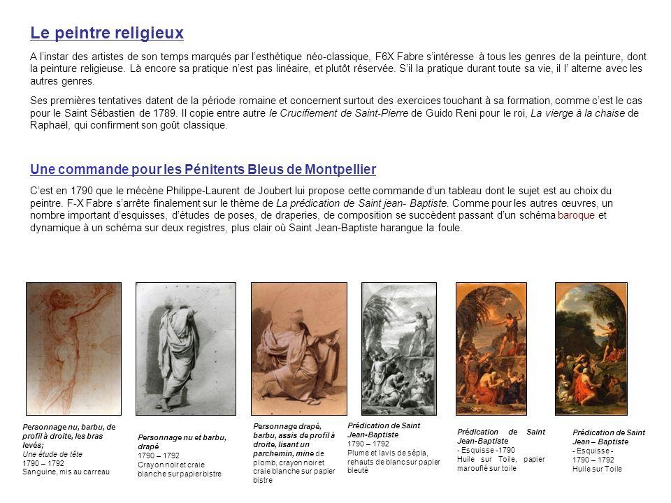 Le peintre religieux A linstar des artistes de son temps marqués par lesthétique néo-classique, F6X Fabre sintéresse à tous les genres de la peinture,