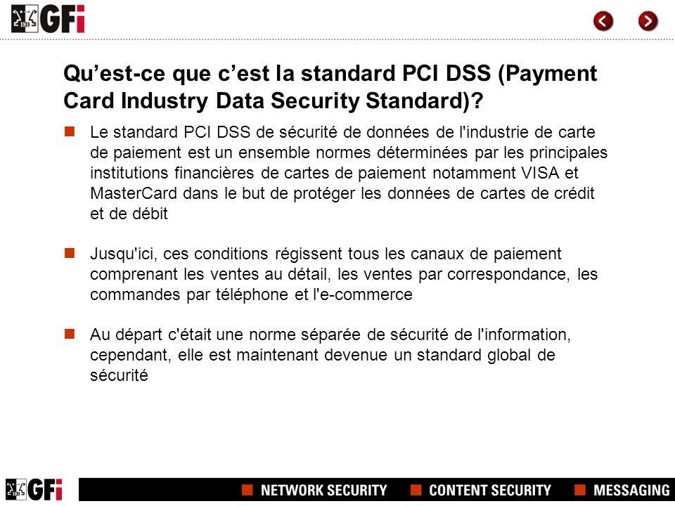 Pourquoi le standard PCI DDS est-il requis.