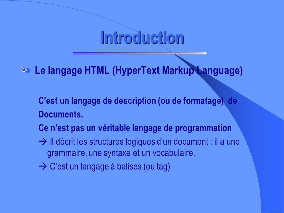 Il existe de nombreux logiciels de création de page WEB mais la connaissance du langage HTML permet une plus grande autonomie de création. OBJECTIFS D