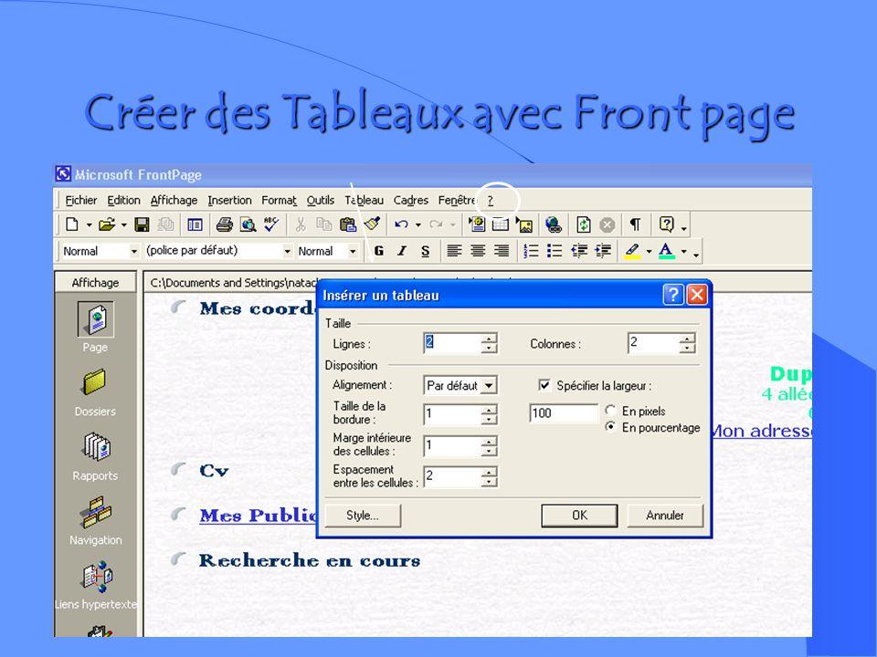 Aperçu de la page dans un navigateur