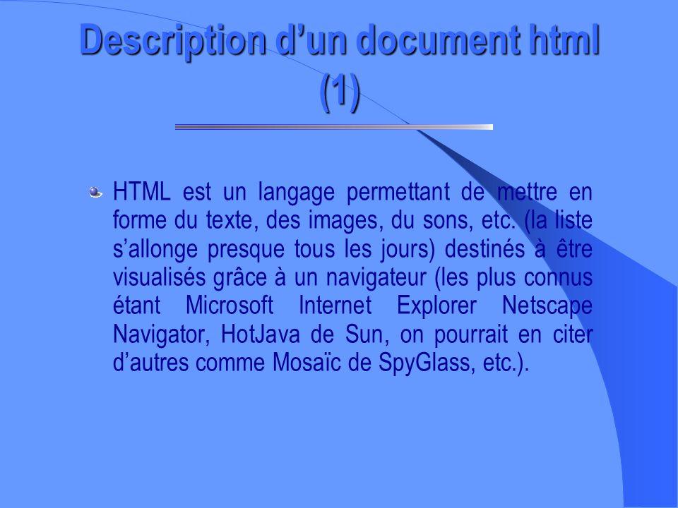 Pour créer des pages WEB, il nest pas nécessaire dêtre connecté sur le WEB Deux programmes sont nécessaires : – Un éditeur de textes (Bloc Note); – Un