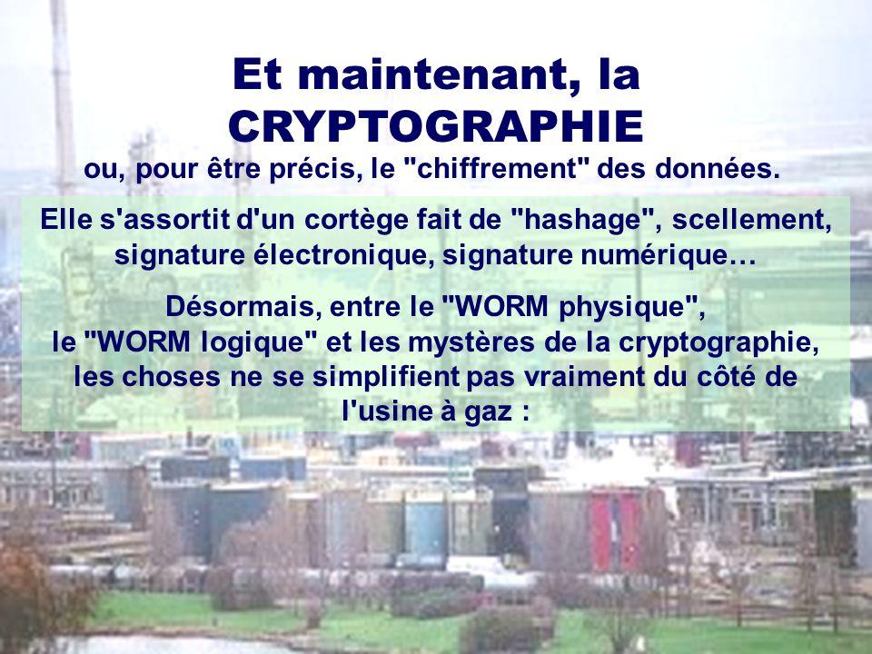 Et maintenant, la CRYPTOGRAPHIE ou, pour être précis, le