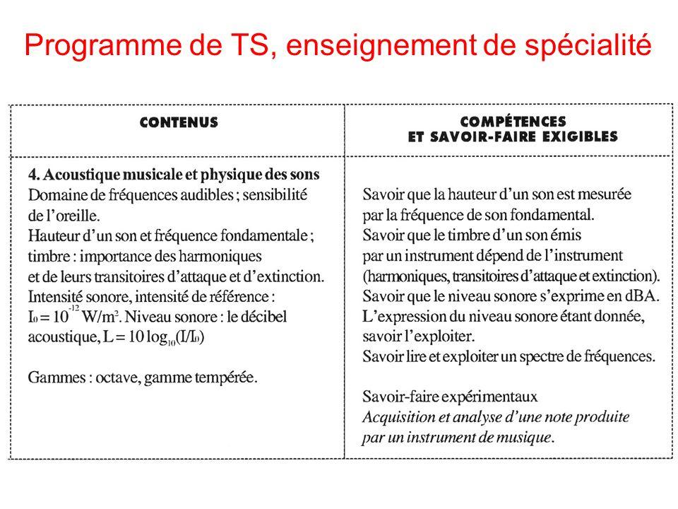 Programme de TS, enseignement de spécialité