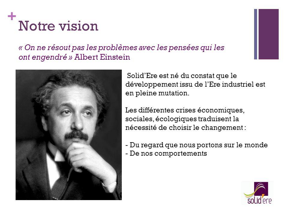 + Notre vision SolidEre est né du constat que le développement issu de lEre industriel est en pleine mutation. Les différentes crises économiques, soc