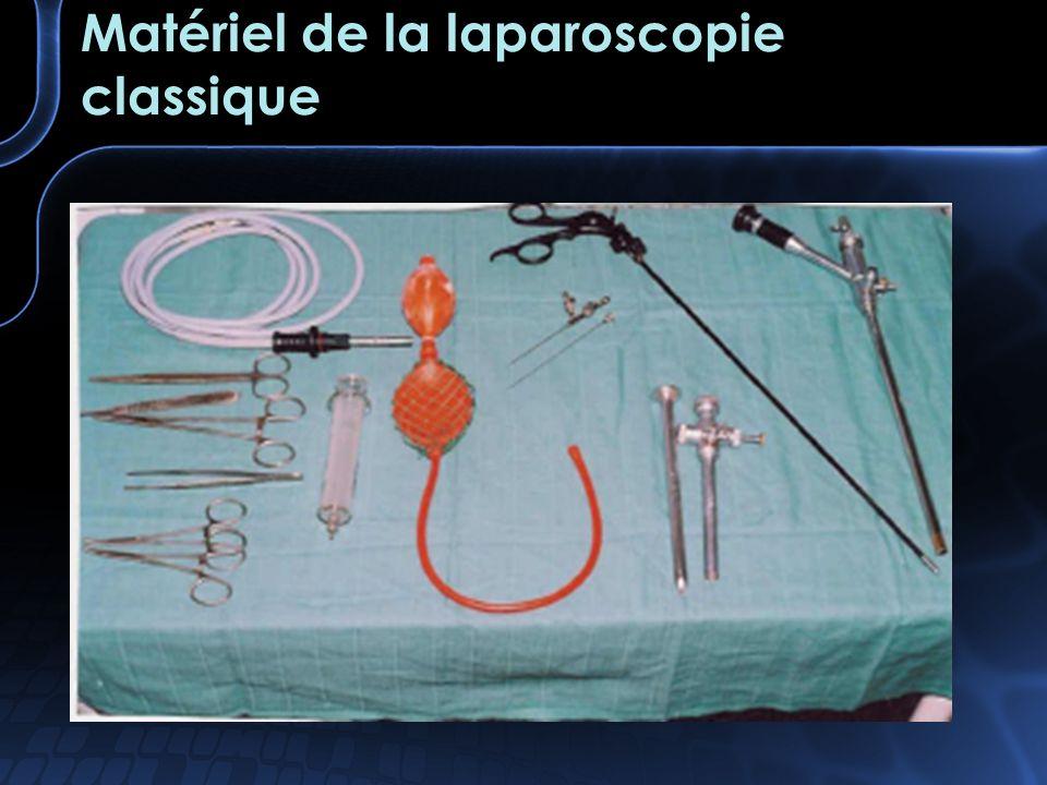 Matériel de la laparoscopie classique