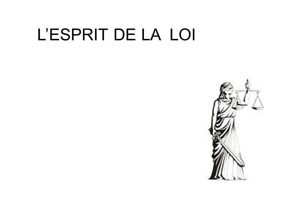 LESPRIT DE LA LOI
