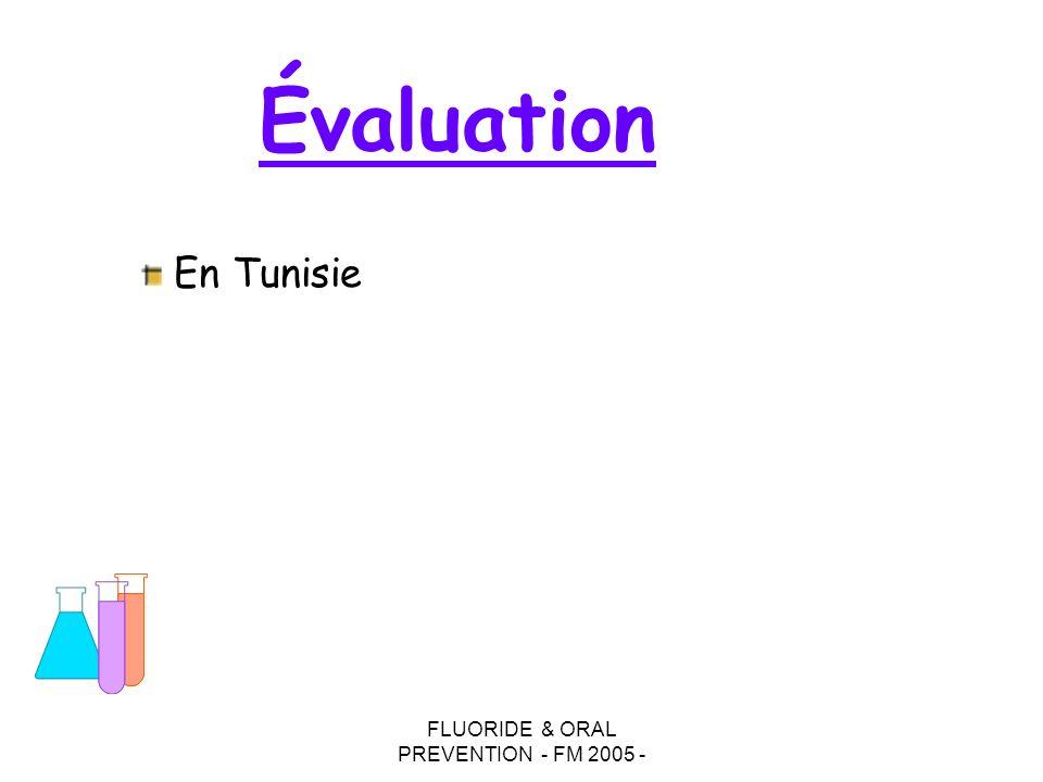 FLUORIDE & ORAL PREVENTION - FM 2005 - Évaluation En Tunisie