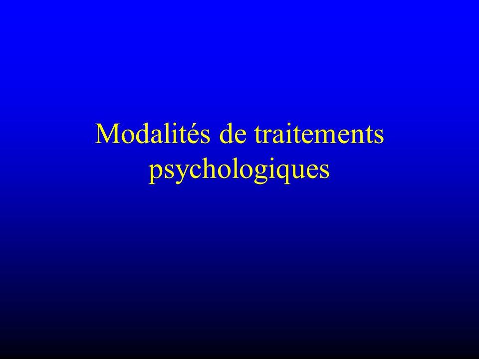 Modalités de traitements psychologiques