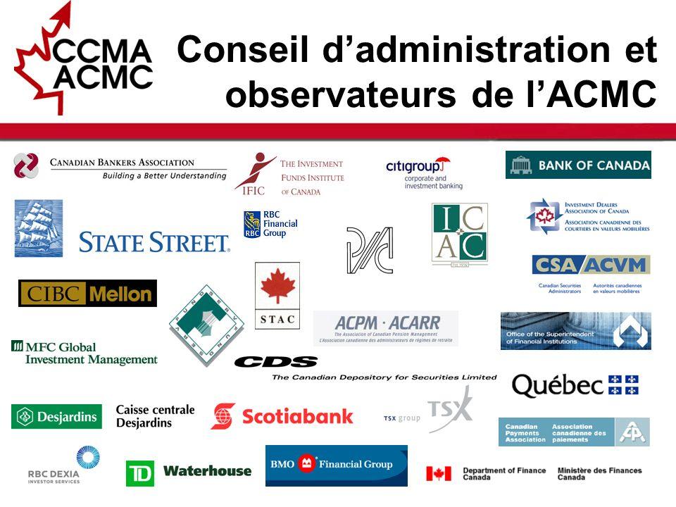 5 Améliorer la capacité concurrentielle des marchés des capitaux canadiens par lintermédiaire dune tribune dexperts du secteur qui offre un leadership et une direction à la communauté financière.