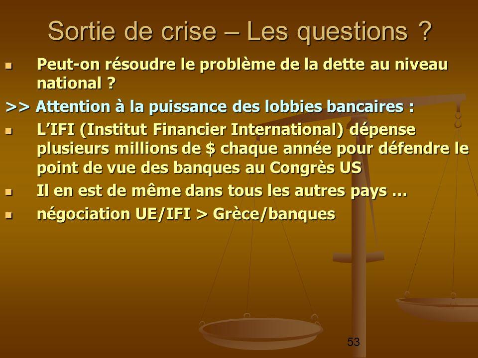 53 Peut-on résoudre le problème de la dette au niveau national ? Peut-on résoudre le problème de la dette au niveau national ? >> Attention à la puiss
