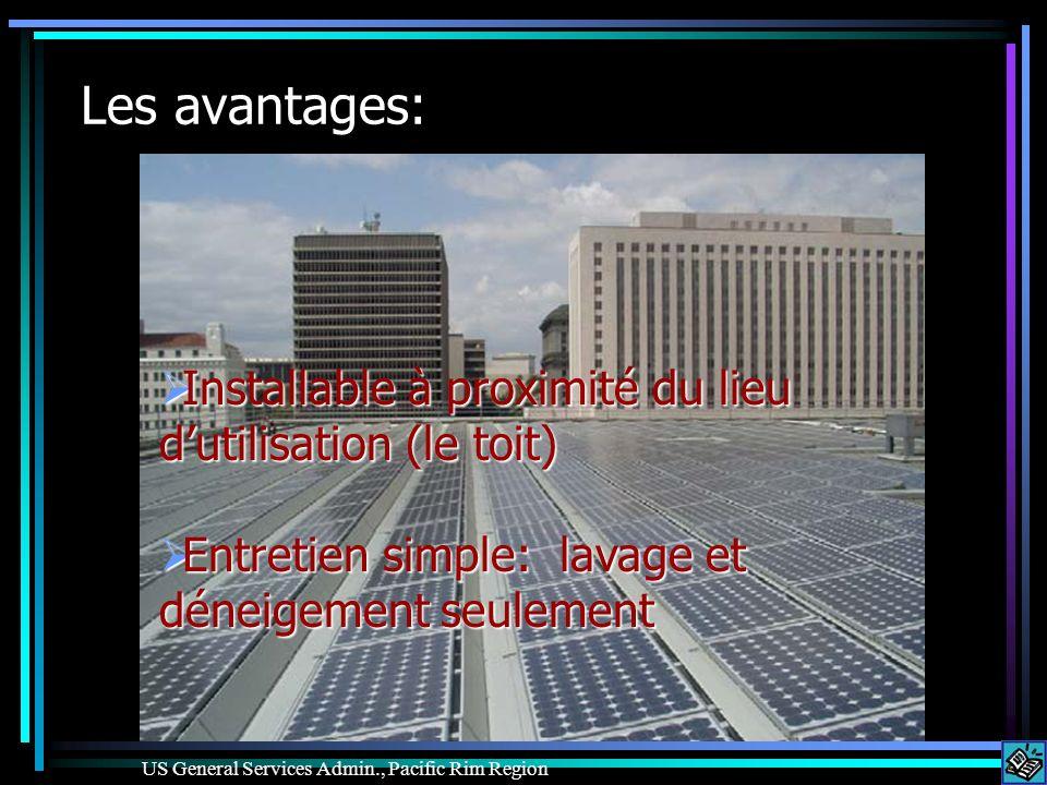 Les avantages: Installable à proximité du lieu dutilisation (le toit) Installable à proximité du lieu dutilisation (le toit) Entretien simple: lavage