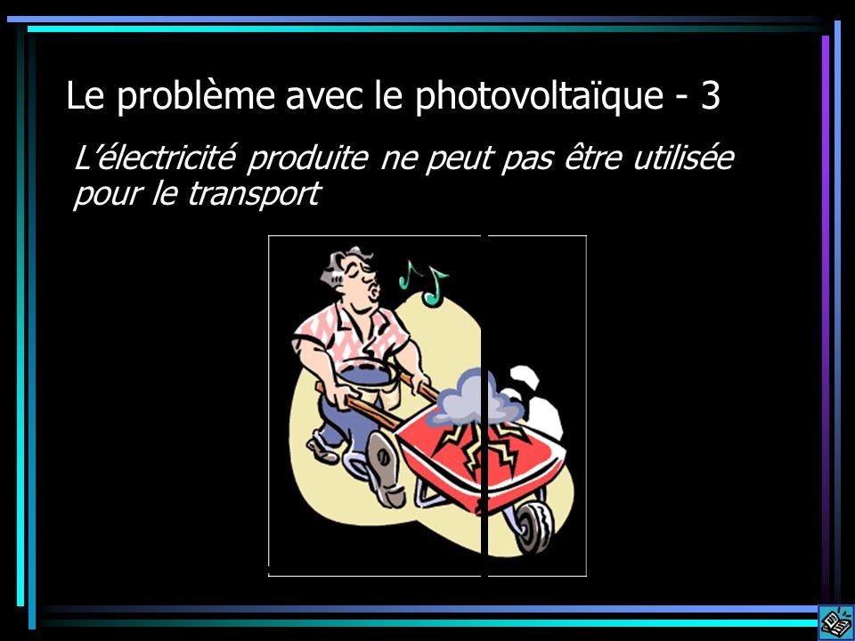 Le problème avec le photovoltaïque - 3 Lélectricité produite ne peut pas être utilisée pour le transport